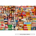 250 pcs - 1960s Shopping Basket Tin - Collector Tins (by Gibsons)