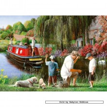Jigsaw puzzle 500 pcs - Gone Fishin' - Kevin Daniel (by Gibsons)