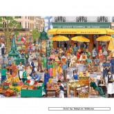 Jigsaw puzzle 1000 pcs - Parisian Market - Gale Pitt (by Gibsons)