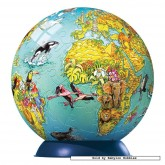 Jigsaw puzzle 108 pcs - Globe for Children - Puzzleball Junior (by Ravensburger)
