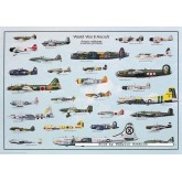 Jigsaw puzzle 1000 pcs - WORLD WAR II AIRCRAFT (by Ricordi)
