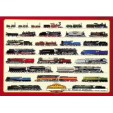 Jigsaw puzzle 1000 pcs - Steam Locomotives (by Ricordi)
