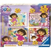 12 pcs - Dora (4x) - Progressive (by Ravensburger)