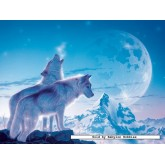 Jigsaw puzzle 1500 pcs - Howling Wolves (by Ravensburger)