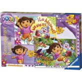 Jigsaw puzzle 12 pcs - Dora The explorer (2x) - Progressive (by Ravensburger)
