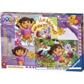 Jigsaw puzzle 12 pcs - Dora The explorer (2x) - Progressive (by Ravensburger)