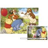 Jigsaw puzzle 20 pcs - Winnie The Pooh (2x) - Disney (by Ravensburger)