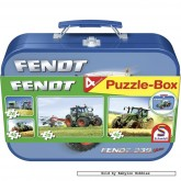 Jigsaw puzzle 26 pcs - FENDT tractors (4x) - Collector Tins (by Schmidt)