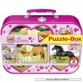 Jigsaw puzzle 26 pcs - Horses Love (4x) - Collector Tins (by Schmidt)