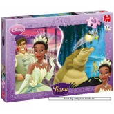 Jigsaw puzzle 50 pcs - Princess & Frog - Disney (by Jumbo)