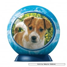 Jigsaw puzzle 60 pcs - Curious Puppy - Puzzleball (by Ravensburger)