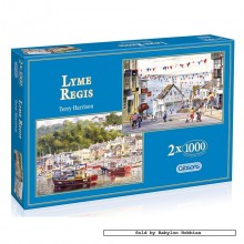 Jigsaw puzzle 1000 pcs - Lyme Regis (2x) (by Gibsons)