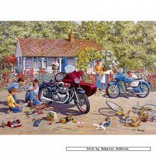 Jigsaw puzzle 1000 pcs - Holiday Holdups  - Michael Herring (by Gibsons)