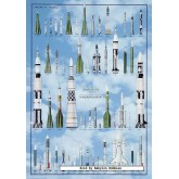 Jigsaw puzzle 1000 pcs - SPACE MISSILIES (by Ricordi)