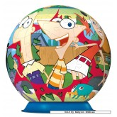 Jigsaw puzzle 108 pcs - Phineas & Ferb - Puzzleball Junior (by Ravensburger)